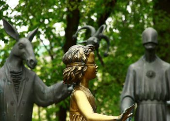 The Trusting Child statue. Lack of trust is not from a character flaw, it could be from lack of time or even your willingness to trust in others