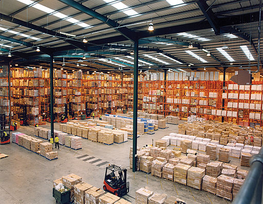 This is what a pallet rack system in a warehouse looks like.