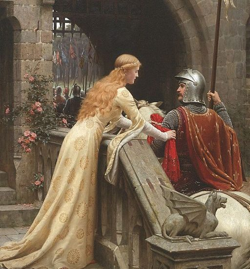 "Edmund Leighton's ""God Speed,"" an illustration of courtly love. A risky workplace romance."