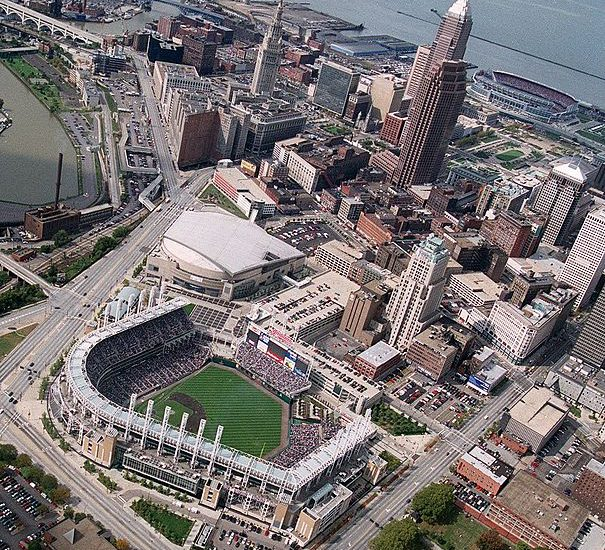 Aerial photo of Downtown Cleveland. This is where I learned how to avoid another of the big leadership mistakes.