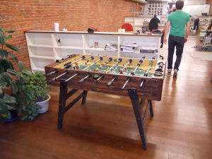 A foosball table in an office can often be an indicator of the business culture in the office.